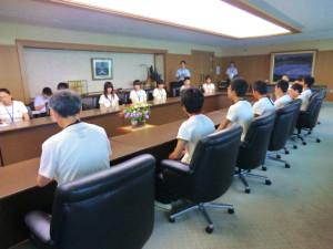 熊本県知事表敬訪問。今年は副知事さんでしたが、臆せずお話ができました。