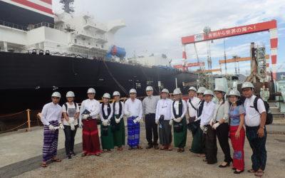ジャパンマリンユナイテッド訪問  世界規模の造船工場に圧倒されました